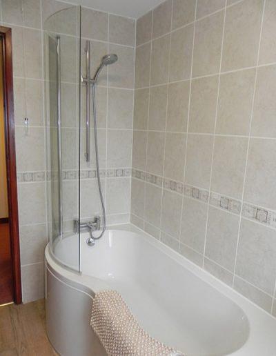 Bath in family bathroom