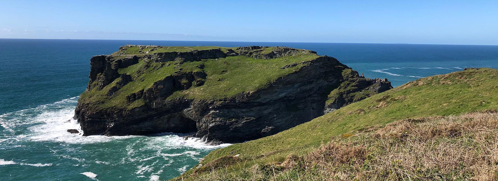 Tintagel castle island